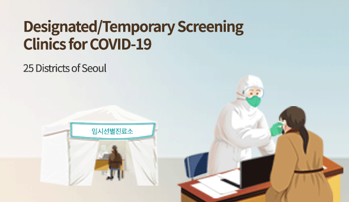 Designated/Temporary Screening Clinics for COVID-19 25 Districts of Seoul