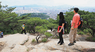A ridge in Achasan Mountain overlooking parts of Seoul