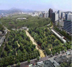 The 'Jongmyo Square Sanctuarization Project' aims to preserve Jongmyo, as a UNESCO World Heritage.