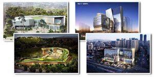 Eco-friendly buildings in Seoul