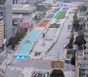 Sejong-ro, the Center of Seoul, To Be Transformed into a Pedestrian-Only Street