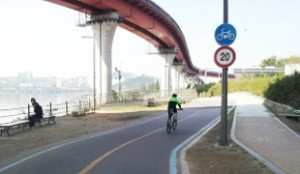 Rest area below Seongsudaegyo (Bridge)