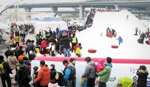 Ttukseom, Yeouido, Hangang Park - Snow Sled Park Opening