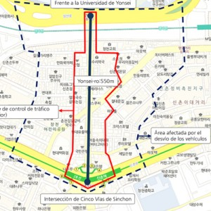 "Opening of ""Sinchon Yonsei-ro,"" Seoul's First Transit Mall"