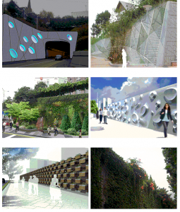 Improvement of the designs relating to retaining walls and anti-noise walls