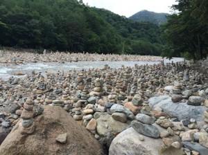 """Wishing Stone Piles at Baekdamsa Temple"""