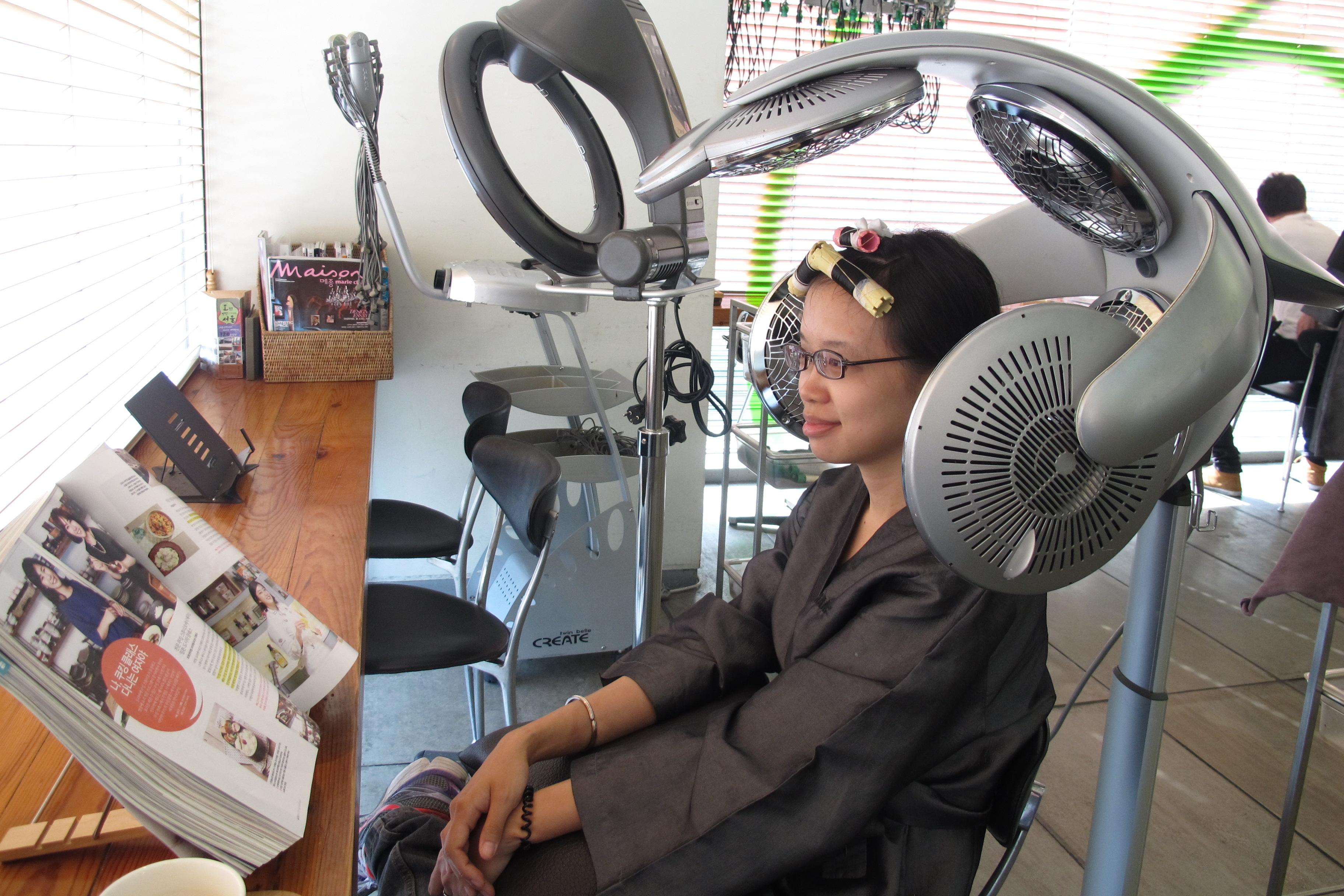 Make new glasses? Get a hair cut?