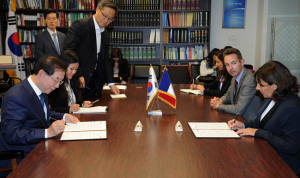 """Mayor Park Signs an """"MOU on Environment, Energy, Urban Renewal, and Climate"""""""