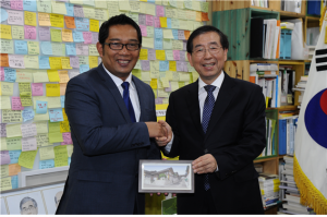 Mayor Park Won Soon meets Bandung Mayor of Indonesia