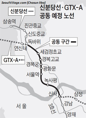 GTX-A and Sinbundang Line extension