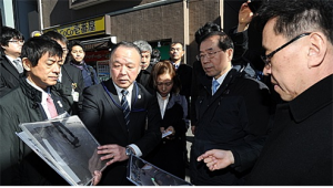 "Seoul Mayor Park, ""Government Subsidies Urgently Needed to Renovate Antiquated Drainpipes,  a Root Cause of Sinkholes"""