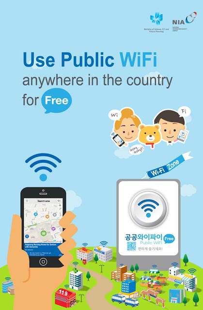 Free WiFi now available all over South Korea !