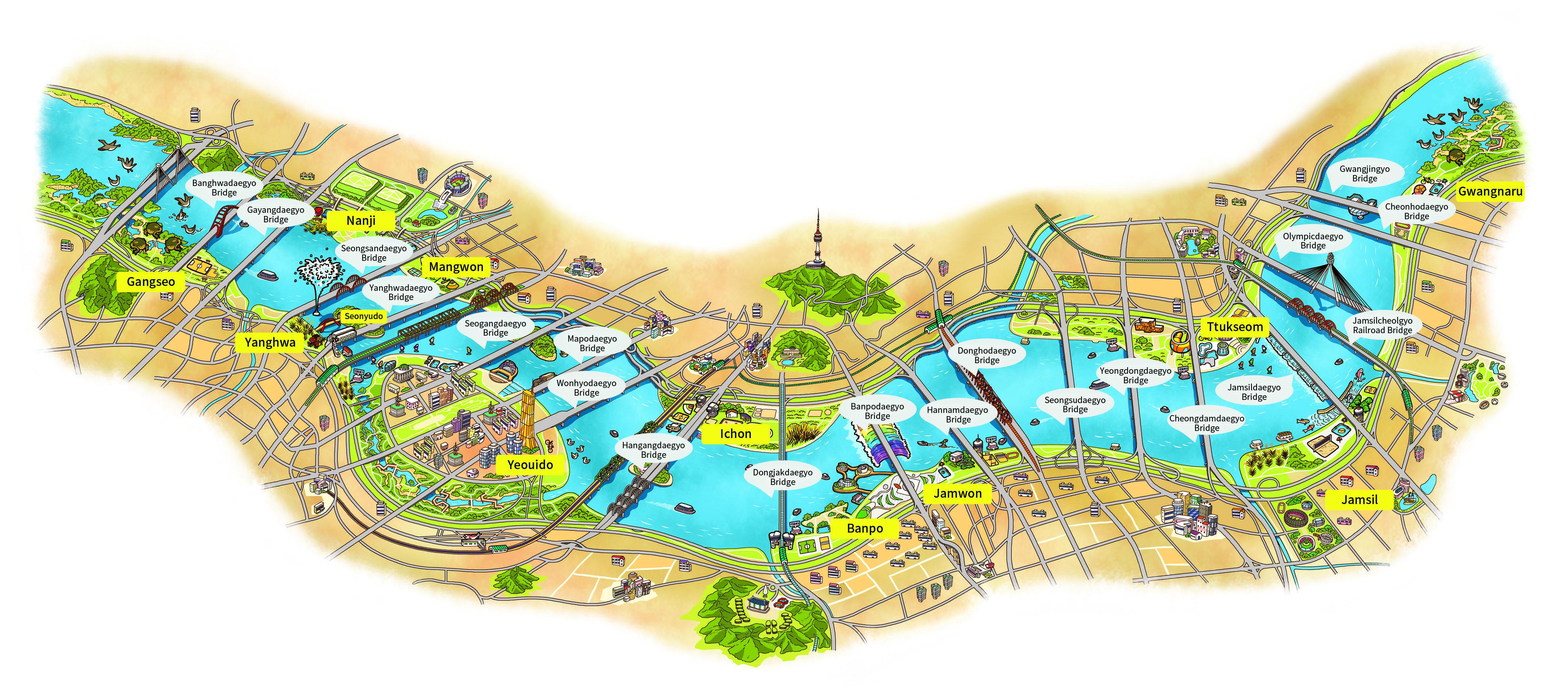 hangang_park_map