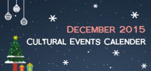 December 2015 Cultural Events Calendar