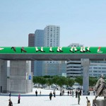 Green Sidewalk at Seoul Station Overpass Construction Site