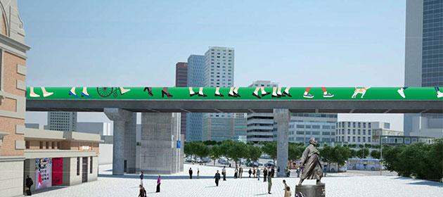 首爾站↔崇禮門方向的圍籬