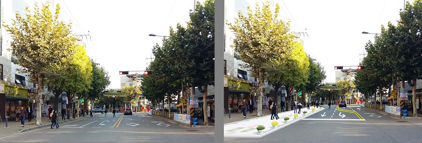 適宜散步的首爾,拓寬社區人行道