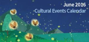 June 2016 Cultural Events Calendar
