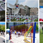 Sejong-daero Turns Into a Street of National Flags
