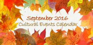 September 2016 Cultural Events Calendar