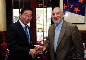 Mayor Park Discusses Solutions to Inequalities with Prof. Stiglitz