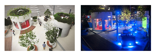 提前感受高架的步行道路,首爾站7017信息庭園