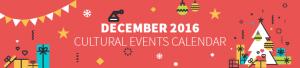 December 2016 Cultural Events Calendar