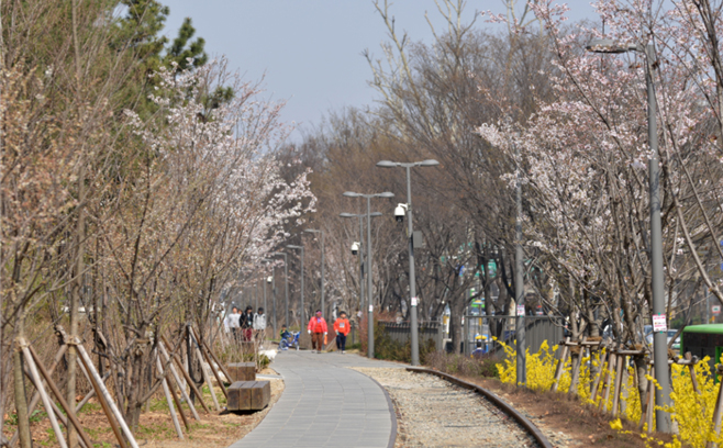 Gyeongchun Line (Railroad) Forest (Gyeongchun Line Zone 1 Gongneung-dong section)