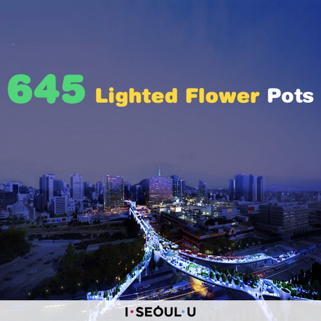 645 Lighted Flower Pots in Primary Colors