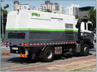 Road dust absorption-type cleaning vehicles