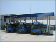 Change to CNG (compressed natural gas) buses