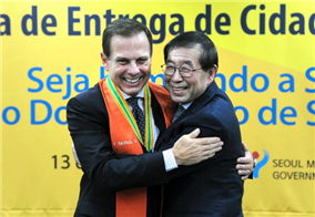 Mayor of São Paulo Appointed as an 'Honorary Citizen of Seoul'