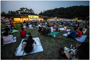 Movie Theater in the Forest in Early Summer for Three Weeks