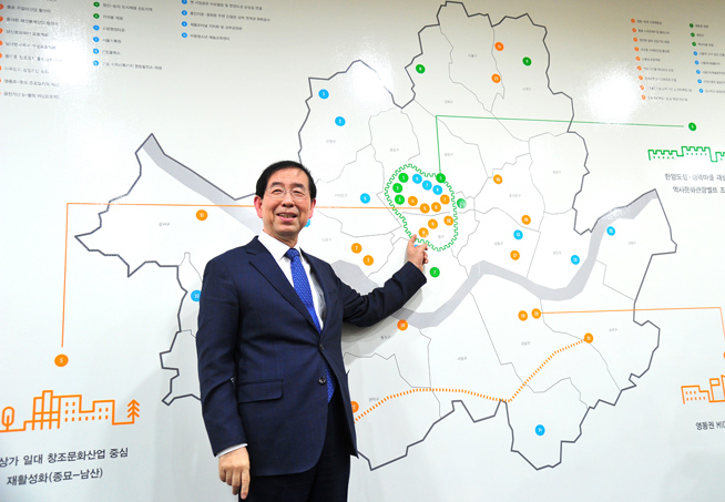 Seoul Mayor Park Sets Out on His First Eurasia Tour