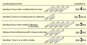 Effects of secondhand smoke on non-smokers(Korea Smoke-Free Campaign Association)