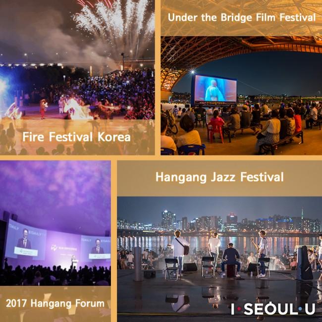 Fire Festival Korea 2017 Hangang Forum Under the Bridge Film Festival Hangang Jazz Festival