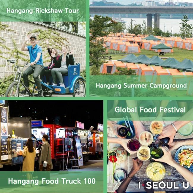 Hangang Rickshaw Tour Hangang Food Truck 100 Hangang Summer Campground Global Food Festival