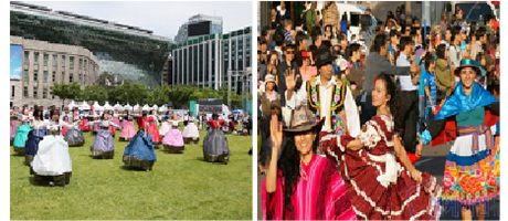 World Costume and Hanbok Flash Mob
