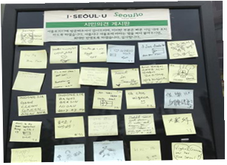 Foreigners' leave their comments on the citizen's board