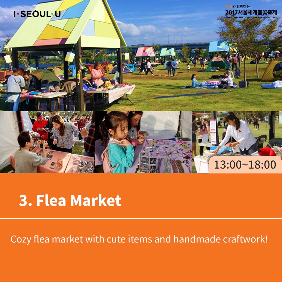 3. Flea Market Cozy flea market with cute items and handmade craftwork!