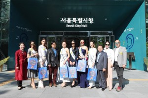 Top 5 Winners of Miss Global Beauty Queen 2017 visited Seoul City Hall and Seoul Metropolitan Council