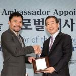 Asian Boxing Legend Manny Pacquiao becomes 'Seoul Global Ambassador'