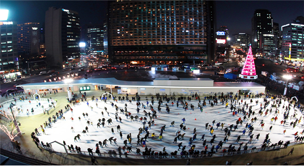 Opening of Seoul Plaza Skating Rink in 2017