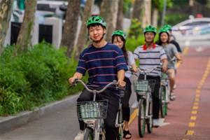 Seoul Public Bike 'Ttareungyi' Helmet Test Operation in Yeouido