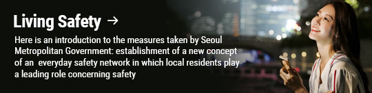 Living Safety: Here is an introduction to the measures taken by Seoul Metropolitan Government: establishment of a new concept of an everyday safety network in which local residents play a leading role concerning safety