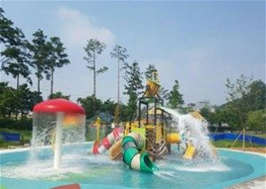 Official August Opening of Downtown Waterpark at Jungnang Camp Ground