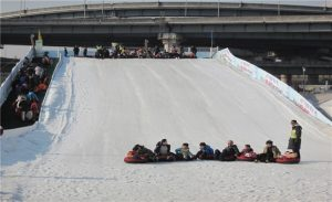 Opening of the Seoul Ttukseom Sledding Hill