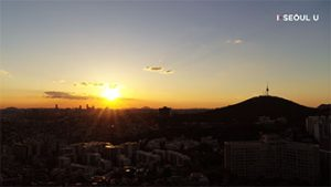A Seoul's Viewpoint: Sunset scene in Seoul