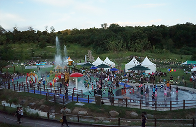 Waterpark in Jungnang Camping Forest
