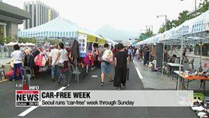 Seoul runs 'car-free week' through Sunday